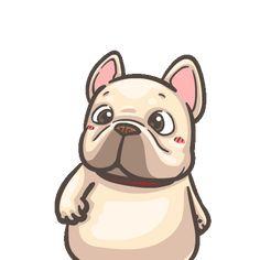 French Bulldog PIGU-Sticker VIII Bulldog Gif, French Bulldog Puppies, Funny Bulldog, Cartoon Stickers, Funny Stickers, Animated Emoticons, Animated Gif, Birthday Cartoon, Cute Cartoon Characters