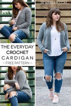 Crochet this easy beginner friendly everyday cardigan sweater with my free pattern and video tutorial!