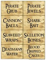 Kids Pirate Party signs