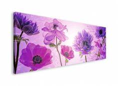 Flowers in Purple - obraz na płótnie