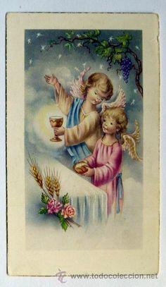 Recordatorio de 1ª comunion 1962 en Novelda (Postales - Religiosas y Recordatorios)