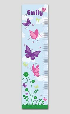 Personalized Pink and Purple Butterfly by TheBearAndTheBugShop, $79.95