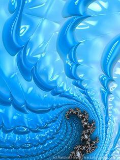 Waves – cool blue winter fractal