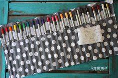 Doodlecraft: Colored Pencil Roll Organizer!