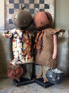 Halloween Toys, Vintage Halloween, Fall Halloween, Primitive Pumpkin, Primitive Crafts, Primitive Autumn, Country Halloween, Scary Dolls, Amigurumi Doll