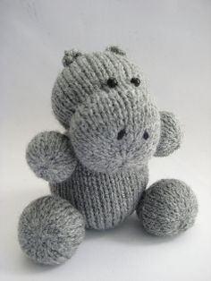 $1.50 - Huggins the Hippo by fluff and fuzz, designs by Amanda Berry, via Flickr