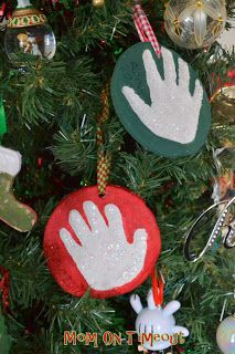 It's A Salt-Dough Christmas! Handprint Ornaments, Stockings, Trees, Snowmen and more! #Christmas #Crafts