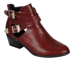 Reneeze BEAUTY-04 Womens Buckled Cut Out side design Booties - RED, Size 8 Reneeze http://www.amazon.com/dp/B00JMS7HU2/ref=cm_sw_r_pi_dp_axEHvb193C6DX