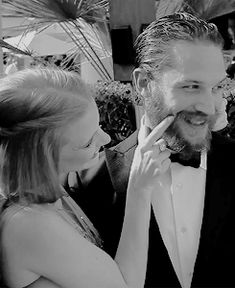 Tom Hardy and Jessica Chastain - Cannes 2012 Tommy's bright eyes & cute toofy smile! I luv