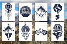 Mountains tattoo by intueri on @creativemarket