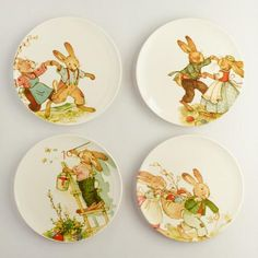 One of my favorite discoveries at WorldMarket.com: Nestler Vintage-Style Bunny Plates, Set of 4