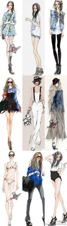 93 Best fashion illustrations images in 2019   Drawing
