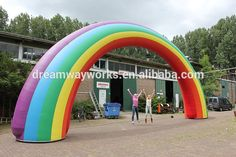 Image result for inflatable arch rainbow