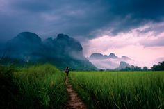 Vang Vieng area in Laos.