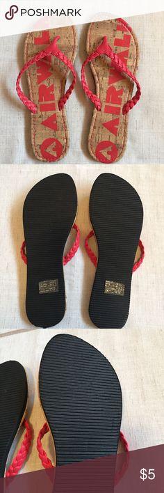 Airwalk Braided Flip-Flop Worn once, briefly. Super light weight in cute Springtime salmon color. Airwalk Shoes Sandals