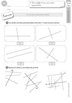 Evaluation droites perpendiculaires et parallèles CM1 ...