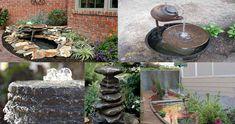 15 Ideas innovadoras para hacer fuentes y estanques artificiales en el jardín – Manos a la Obra