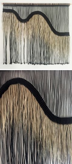 American fiber artist Sally England is known as one of the trail blazers in contemporary macrame. Sally England macrame also incorporates weaving. Weaving Textiles, Weaving Art, Loom Weaving, Pin Weaving, Macrame Headband, Macrame Bag, Macrame Curtain, Macrame Projects, Yarn Projects