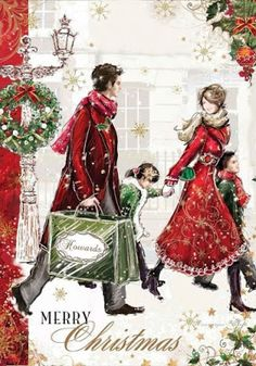 illustrations de richard mcneil - Page 9 Beautiful Christmas Cards, Christmas Scenes, Old Fashioned Christmas, Christmas Past, Vintage Christmas Cards, Vintage Holiday, Christmas Greetings, Winter Christmas, Merry Christmas Pictures