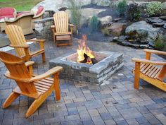DIY Inspiring Patio Design Ideas | outdoors design gardens terrace  | patio outdoors design gardens diy. Love the way the fire pit is set into the patio!
