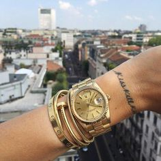 Get the look: Chiara Ferragni. Shop our Amore Stainless Steel Bracelet to get Chiara's look for less! Available in gold, silver and rose gold. Cool Watches, Rolex Watches, Watches For Men, Elegant Watches, Beautiful Watches, Most Popular Watches, Cartier Bracelet, Stainless Steel Bracelet, Luxury Jewelry
