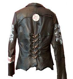 """JUNKER DESIGN* """"Elite Panzer"""" Leather Jacket, Back"""