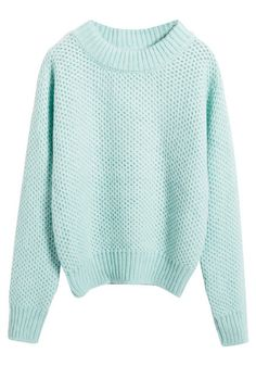 Mint Knitted Sweater