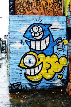 El pez - Street art london shoreditch - nov 2014