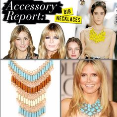 Accessorize a simple silhouette with a bib necklace!