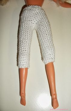 Barbie Et Ken, Barbie Dolls, Barbie Knitting Patterns, Crochet Barbie Clothes, Baby Born, Barbie Friends, Free Pattern, Leggings, Model
