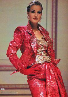 Karen Mulder in Christian Dior f/w 1991 feat Karen Mulder