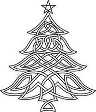 celtic xmas tree design