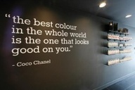 This can be painted on the Nail Polish shelves wall.