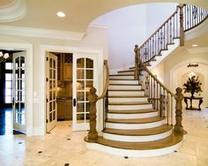 Gorgeous Staircase Design with Elegant Design: Awesome Classic Staircases Design Wooden Steaps Traditional Entry