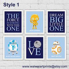 copies dart de laffiche guerres robots art robots r2 d2 la chambre de garon star wars prints r2 3po bb bb 8 - Affiche Garcon Robot