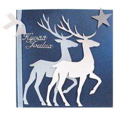 Sinelli - Askarteluverkkokauppa - Askartelu - Askartelutarvikkeet Diy Christmas Cards, Christmas Love, Merry Christmas, Christmas Ideas, Gift Tags, Moose Art, Wraps, Hand Crafts, Gifts