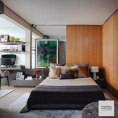 """""""A simetria nem sempre é essencial!! Suíte linda por Fernanda Marques!! Foto @mariana_orsi #design #decor #suite #decoração #interiordesign #homedecor #arquitetura"""" Photo taken by @designdecor on Instagram, pinned via the InstaPin iOS App! http://www.instapinapp.com (12/23/2014)"""