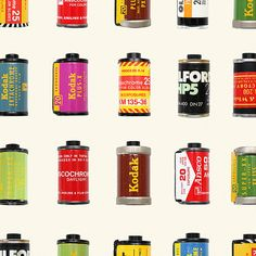 Vintage Film Canisters - 35mm Film - Kodak - Kodachrome Canister- Ilford - Agfa - Art Print Poster