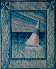 Sail Boat Wall Quilt Pattern. $6.00, via Etsy.
