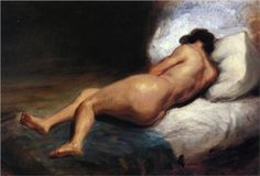 Study of a Reclining Nude (1824) // Eugene Delacroix