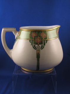 "William Guerin & Co. (WG) Arts & Crafts Floral Motif Lemonade Pitcher (Signed ""ELS""/c.1900-1932)"