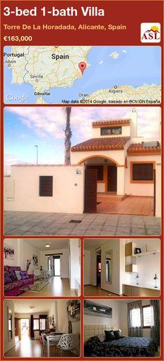 3-bed 1-bath Villa in Torre De La Horadada, Alicante, Spain ►€163,000 #PropertyForSaleInSpain