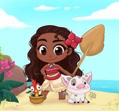 Moana by Malycia on DeviantArt Cute Disney Drawings, Disney Princess Drawings, Disney Princess Pictures, Cute Drawings, Chibi Disney, Kawaii Disney, Cute Disney Wallpaper, Cute Cartoon Wallpapers, Image Princesse Disney