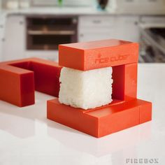 Rice Cube can make sushi from plain rice, cutting down calories and preparation time. You can even make sushi without the nori seaweed. Rice Cube also Must Have Kitchen Gadgets, Kitchen Tools And Gadgets, Cooking Gadgets, Cooking Tools, Cooking Ware, Kid Cooking, Cooking Equipment, Kitchen Supplies, Home Gadgets