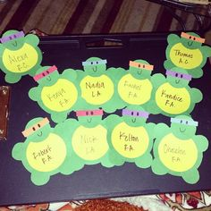 greekgrad: Made my boss and my awesome staff some ninja turtles door decs! I lo… – Furniture and Door Decoration Ra Door Tags, Door Decks, Barn Door Closet, Residence Life, Balkon Design, Resident Assistant, Zeina, Res Life, Front Door Colors