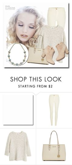 """SHOP - Pearl Collective - Necklace"" by pearlcollective ❤ liked on Polyvore featuring River Island, MANGO, MICHAEL Michael Kors and Laurence Dacade"