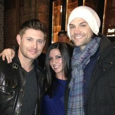 J2 with a fan in Chicago on March 25th, 2014. Probably there to film the episode that will be the pilot for the spinoff. http://instagram.com/p/l_fz2MrAMg/