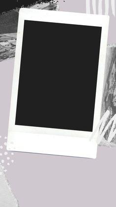 Polaroid Picture Frame, Polaroid Pictures, Write On Pictures, Frame Story, Instagram Frame Template, Polaroid Template, Overlays Tumblr, Photo Frame Design, Black Phone Wallpaper