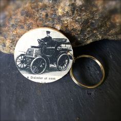 Wooden Keychain with Antique Picture by SelfieChicBoutique on Etsy