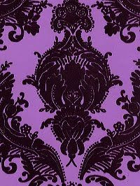 purple damask wallpaper- if i could i would make my whole room this wallpaper!